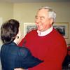 Bob Scott greeting Stephanie Deese. Scan of photo belonging to Pam Barnhardt.