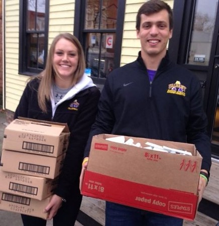 UAlbany's Student-Athlete Advisory Committee (SAAC) lead initiative to collect/donate toiletries.