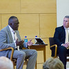 UAlbany President Robert J. Jones speaks with members of the community about why public engagement is key to regional vitality.  Photographer: Bill Pyke