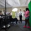 Students learn how to forecast from CBS6 On-Air Meteorologist Craig Gold, as part of the Eureka! Program at the University at Albany to encourage girls from Girls, Inc. in STEM. (photo by Patrick Dodson)