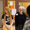 UAlbany's President Robert Jones, faculty, staff, and students visit a Hackett Middle School to emphasize the value of a college education.  Photographer: Paul Miller