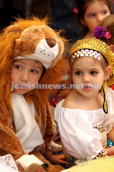 Purim 2010. The King David School. Adam Langer, Maia Weisinger- Braun. Photo: Peter Haskin