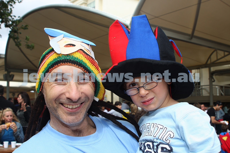 Purim 2010. Caulfield Racecourse. Lamdeni. Steve and Jarryd Raitman. Photo: Peter Haskin