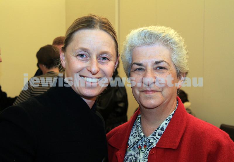 AJN cheese cake. Maree (left) and Melanie Michmacher.