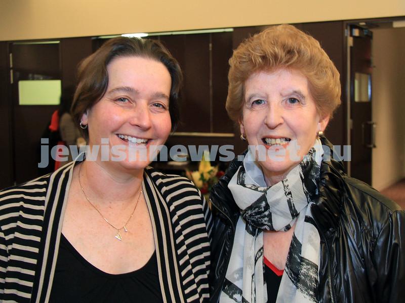 AJN chees cake. Michelle Arndt (left), Myrna Carmonson