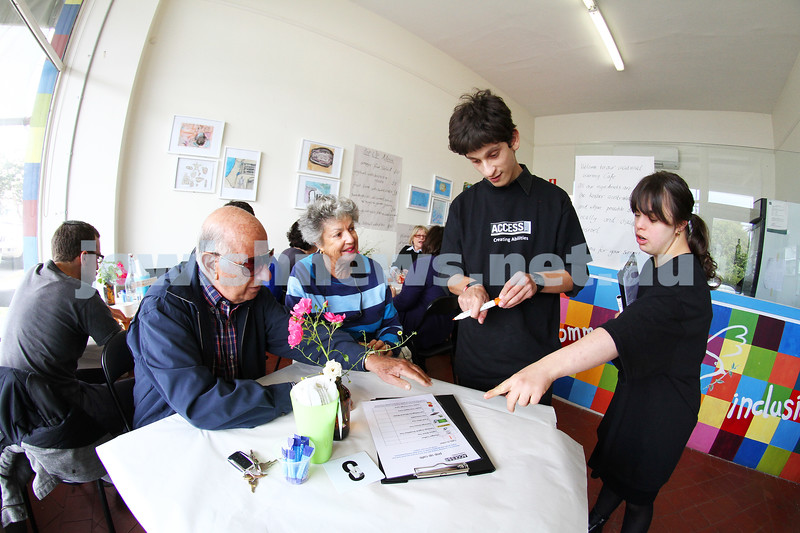 16-11-12. Access Inc. Pop up Cafe. A voctional training cafe to give people with disability a hands on work place training experience. Photo: Peter Haskin