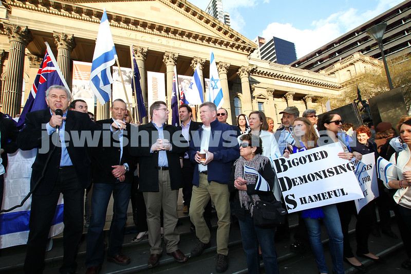 Say No to BDS 4-9-11. Anti BDS rally at the State Library . Organised by Victorian Young Liberals and the Australian Liberal Students' Federation.  Danny Lamm, President of Executive Council of Australian Jewry. Photo: Peter Haskin