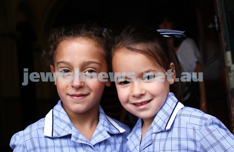 31-1-13. First day of school at Leibler Yavneh College.  Photo: Peter Haskin