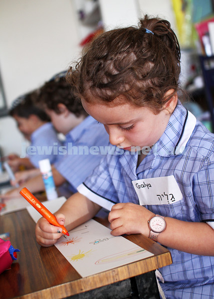 1-2-12. First day of school for the Preps at Leibler Yavneh College. Photo: Peter Haskin
