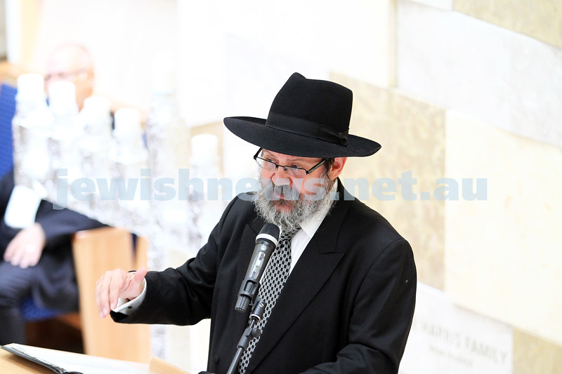 16-12-12. Official opening of the new Central Shul Chabad. Rabbi Yitzchak Riesenberg. Photo: Peter Haskin
