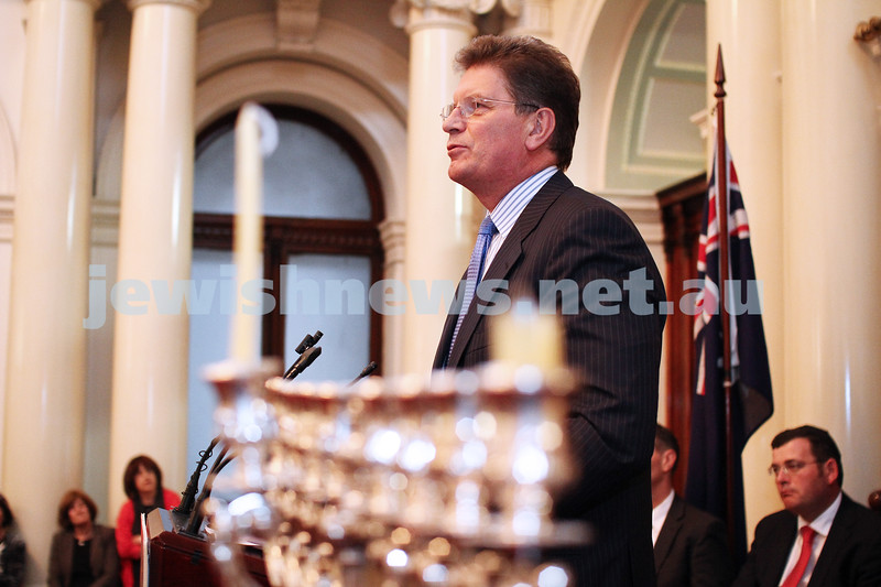 Chanukah at Queens Hall, Parliament House 2011. Ted baillieu. Photo: Peter Haskin