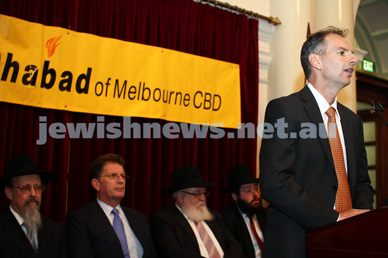 Chanukah at Queens Hall, Parliament House 2011. David Southwick. Photo: Peter Haskin