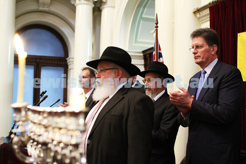 Chanukah at Queens Hall, Parliament House 2011. Rabbi Philip Heilbrunn. Photo: Peter Haskin