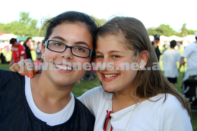 5-12-10. Chanukah in the Park. Esther Jurkowicz (left), Chavi Block. Photo: Peter Haskin
