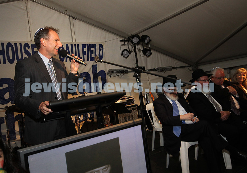 5-12-10. Chanukah in the Park. New member for Caulfield, David Southwick. Photo: Peter Haskin