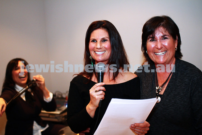 8-9-13. Cooking with the Raizons. New cook book launch.  Delia Baron (left) with her mother. Photo: Peter Haskin
