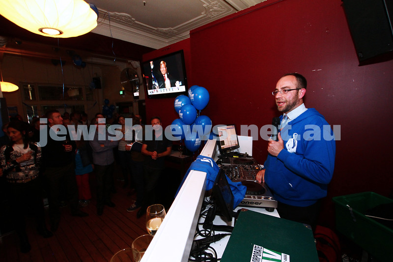 7-9-13. Election day 2013. Liberal candidate for Melbourne Ports, Kevin Ekendahl on election night.  Photo: Peter Haskin