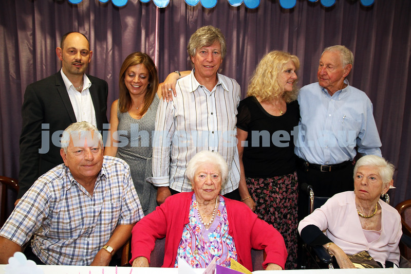 10-2-12. Celebrations for Genia Simon's 100th birhtday held at at Emmy Monash where she is a resident.  Photo: Peter Haskin