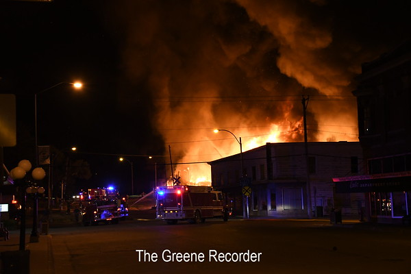 Greene Lumber Company Fire