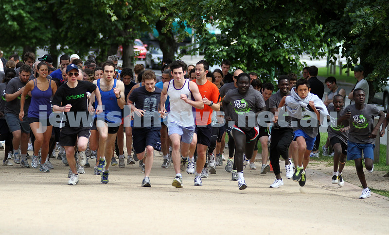 "4-12-11. ""They're off!!"". Jewish Aid Australia held there Run for Change day around Melbourne's Botanical Gardens to raise money for creating social change. Photo: Peter Haskin"