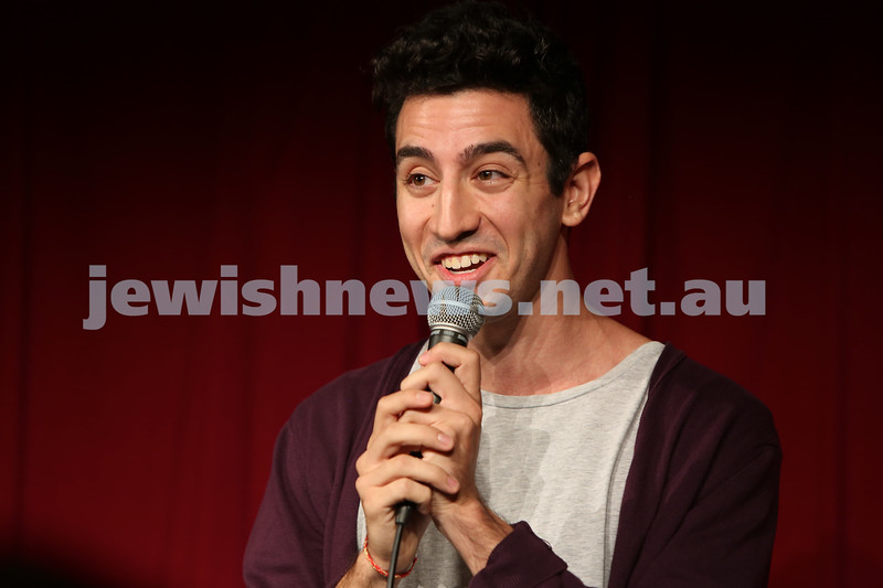 More than 200 people packed into The Comedy Store on Tuesday night for the inaugural Jewish Comedy Showcase. Comedians included David Smiedt, Simon Weinstock, Dave Bloustein, Jeremie Bracka, Peter Meisel and Sol Bernstein.<br /> Photos: Giselle Haber