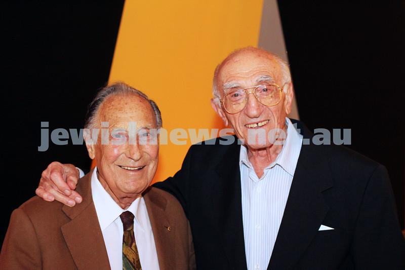 9-11-2011. Jewish Film Festival launch. Les Erdi & Israel Kipen. Photo: Lochlan Tangas