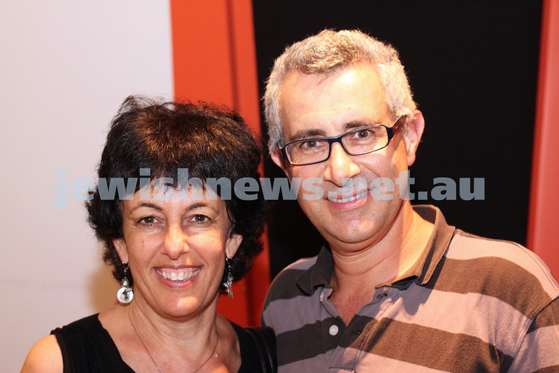 9-11-2011. Jewish Film Festival launch. Naomi Rassaby, Robert Joseph. Photo: Lochlan Tangas