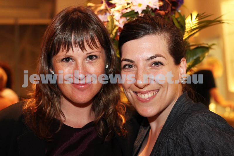 9-11-2011. Jewish Film Festival launch. Kiera lindsey & Natalie Galak. Photo: Lochlan Tangas