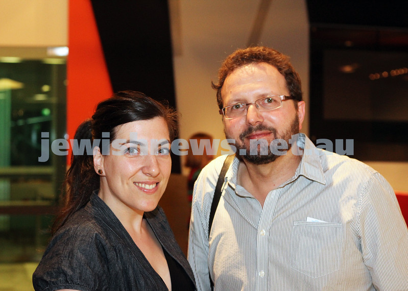 9-11-2011. Jewish Film Festival launch. Natalie Galak & Simon Kreveld. Photo: Lochlan Tangas