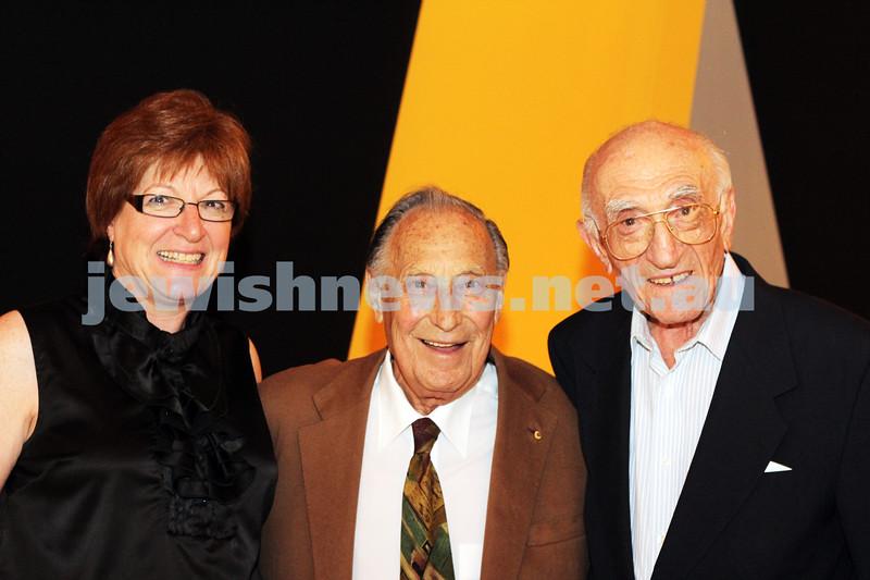 9-11-2011. Jewish Film Festival launch. Aviva Kipen, Les Erdi & Israel Kipen. Photo: Lochlan Tangas