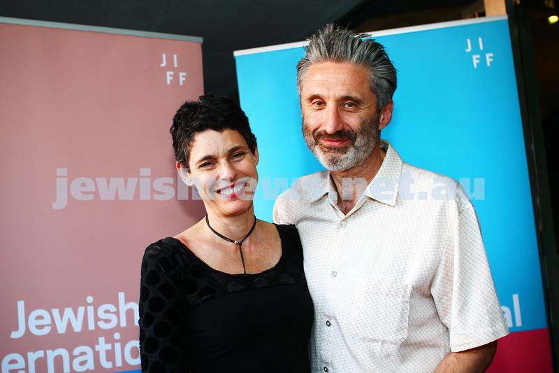 6-11-13. JIFF Melbourne 2013.  Opening of the Jewish International Film Festival at the Classic Cinema, Elsternwick. Deborah Conway. Photo: Peter Haskin
