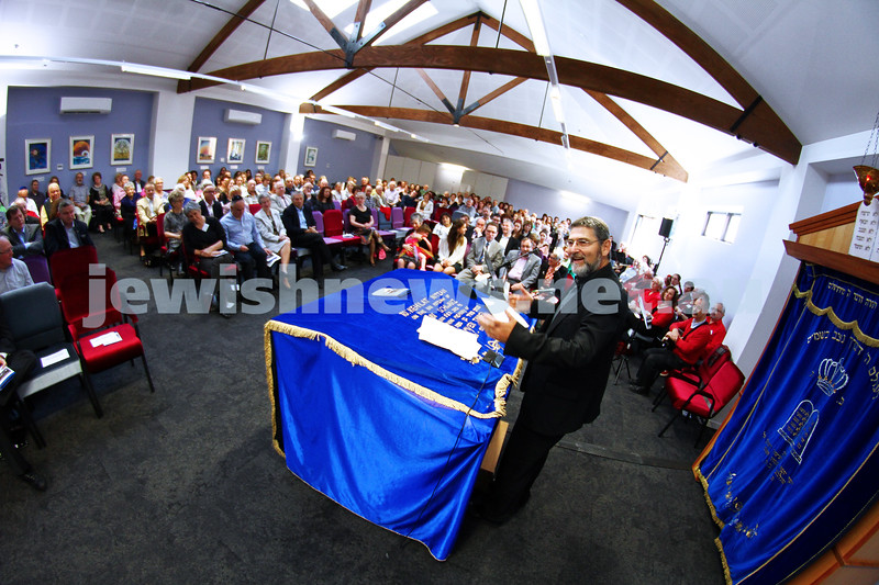 1-9-13. Kehilat Nitzan Concervative (Masorti). New synagogue dedication. Rabbi Ehud Bandel. Photo: Peter Haskin
