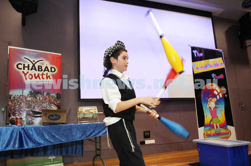 9-5-12. Lag B'omer 2012. Chabad Youth activities at the Yeshivah Centre. Photo: Peter Haskin
