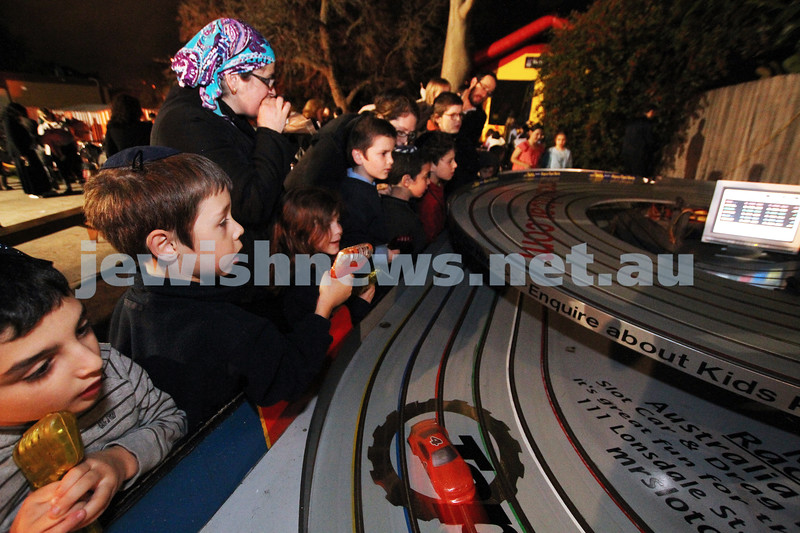 9-5-12. Lag B'omer 2012.slot cars  at Katanga. Photo: Peter Haskin