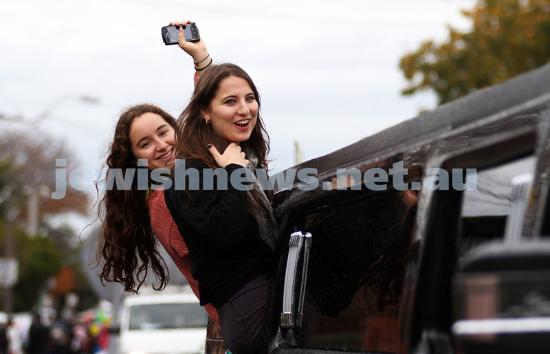 22-5-11. Chabad Youth Lag B'omer Parade 2011. Cruising in style in the Hummer limo. Photo: Peter Haskin