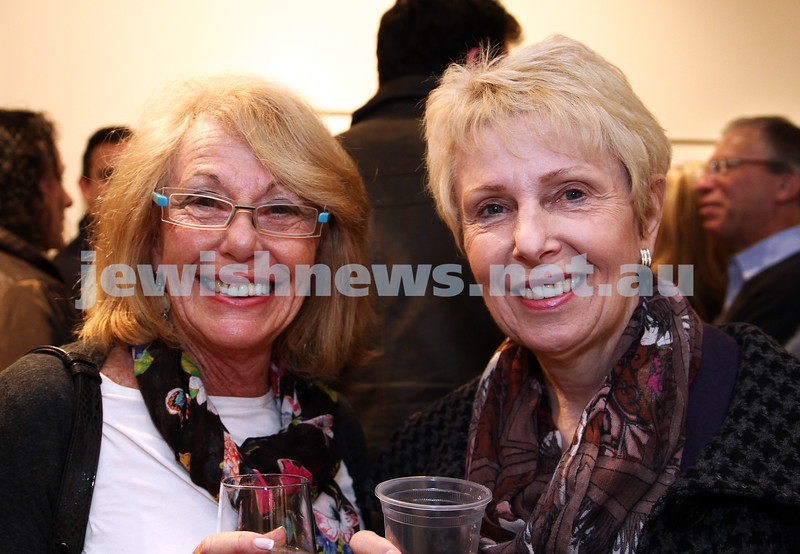 """17-7-11. Opening of the Lex Mrocki """"Seen and Unseen"""" photographic exhibtion at Melbourne's Jewish Museum. Lyla Weisler (left), Lillian Pearce. Photo: Peter Haskin"""