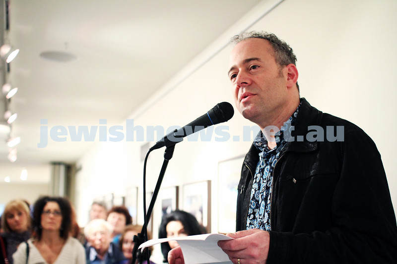 "17-7-11. Opening of the Lex Mrocki ""Seen and Unseen"" photographic exhibtion at Melbourne's Jewish Museum. Lionel Mrocki. Photo: Peter Haskin"