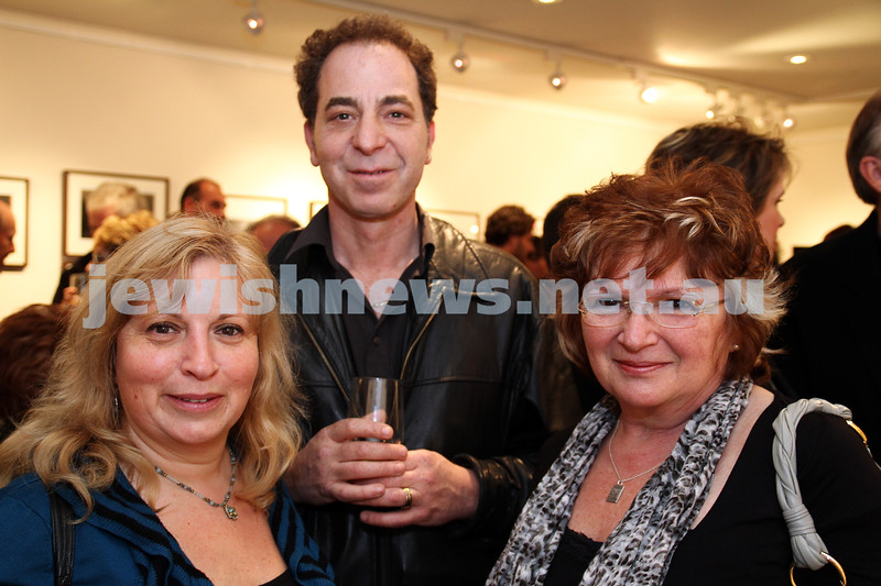 "17-7-11. Opening of the Lex Mrocki ""Seen and Unseen"" photographic exhibtion at Melbourne's Jewish Museum. Photo: Peter Haskin"