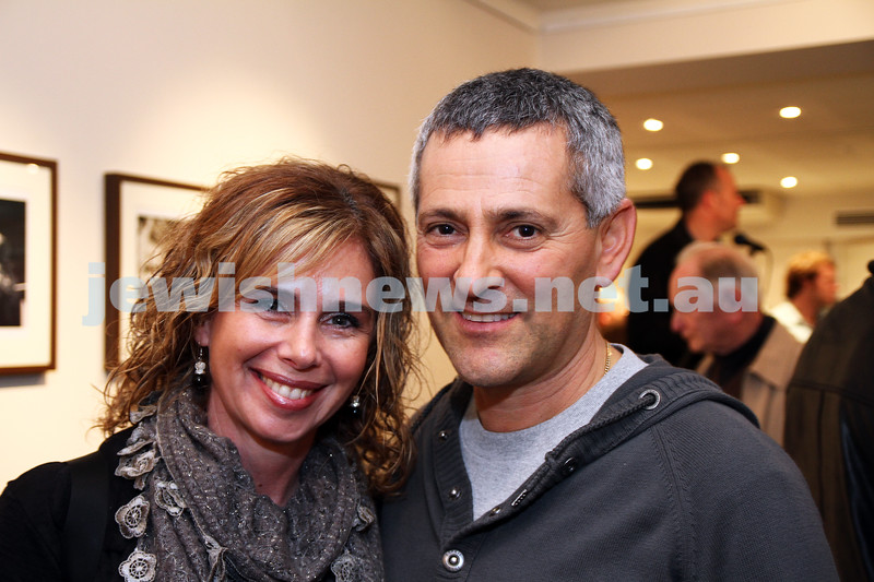 """17-7-11. Opening of the Lex Mrocki """"Seen and Unseen"""" photographic exhibtion at Melbourne's Jewish Museum. Tracey and Harold Sternfeld. Photo: Peter Haskin"""