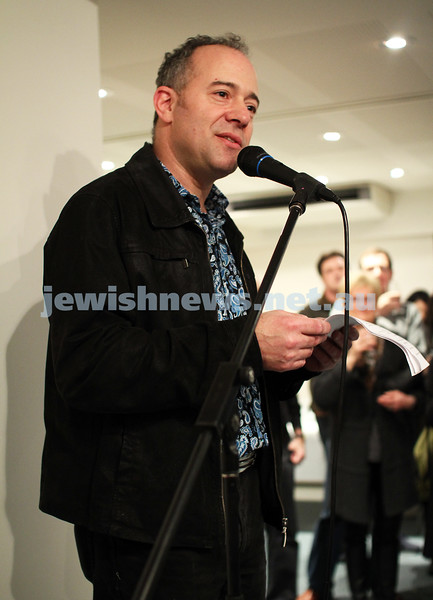 """17-7-11. Opening of the Lex Mrocki """"Seen and Unseen"""" photographic exhibtion at Melbourne's Jewish Museum. Lionel Mrocki. Photo: Peter Haskin"""