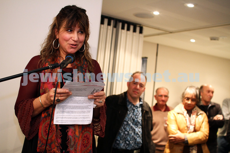 "17-7-11. Opening of the Lex Mrocki ""Seen and Unseen"" photographic exhibtion at Melbourne's Jewish Museum. Freydi Mrocki. Photo: Peter Haskin"