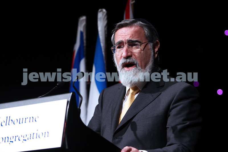 29-1-12. Gala dinner at Crown's Paladium Room for Chief Rabbi Lord Jonathan Sacks. Photo: Peter Haskin.