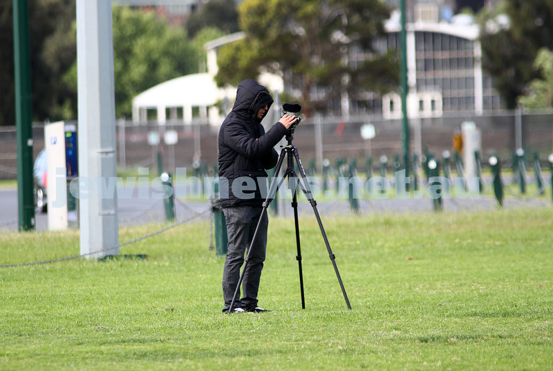 9-10-11. Maccabi Cricket v RMIT. Lochlan Tangas. Photo: Peter Haskin