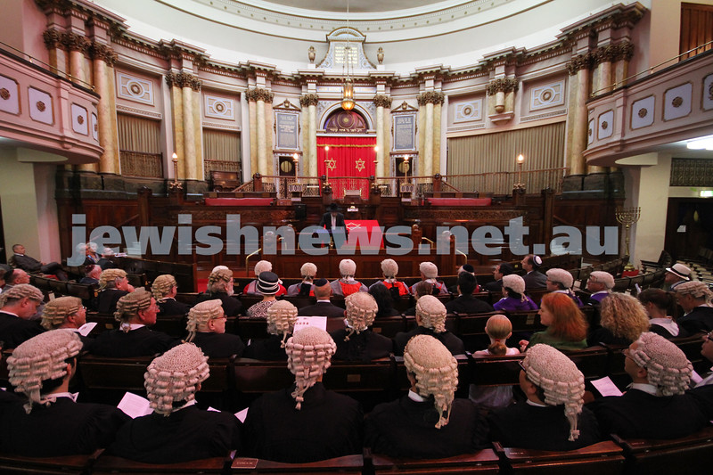 31-1-11. Melbourne Hebrew Congregation. Opening of the Law Year 2011. Photo: Peter Haskin