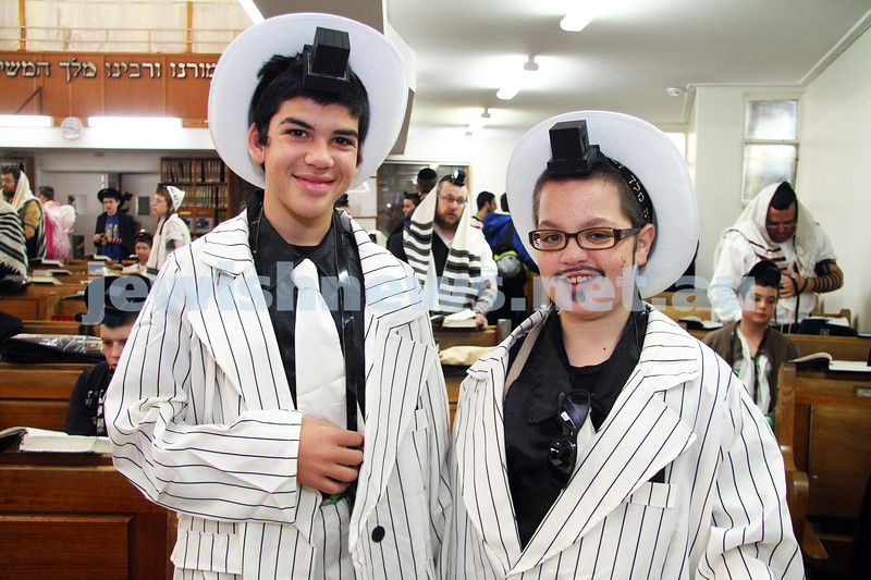 Purim 2011. Yeshivah. Photo: Peter Haskin
