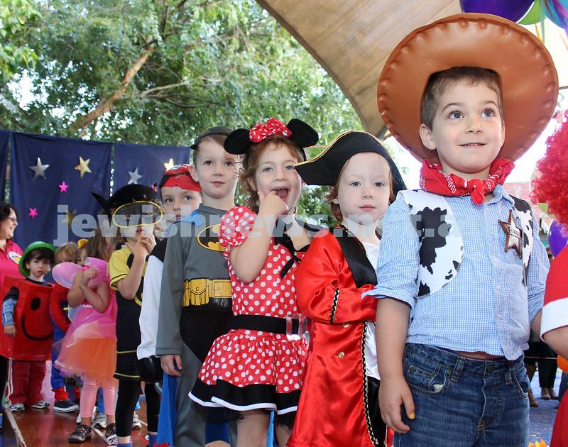 Purim parade at  The King David School. Photo: Lochlan Tangas.