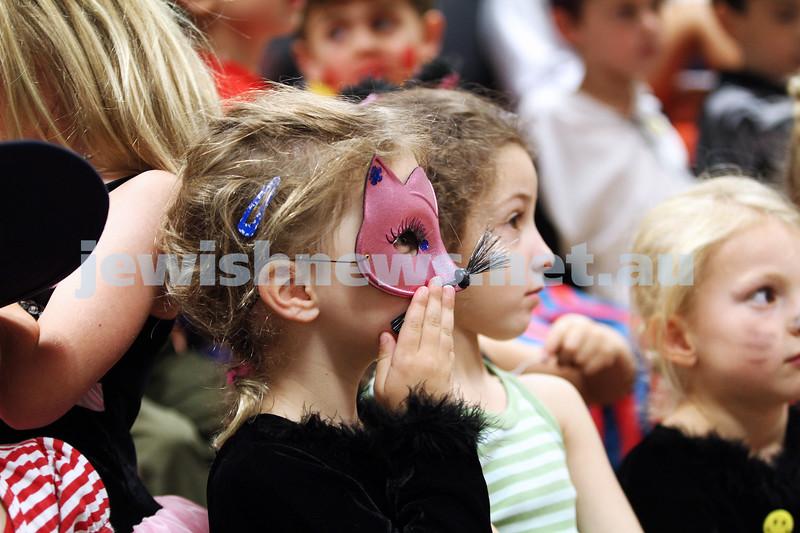 11-2-13. Purim celebrations at Mount Scopus, Gandel Besen House. Photo: Peter Haskin