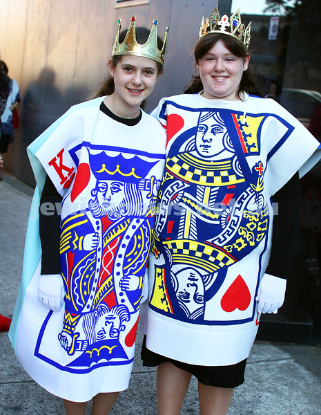 Beth Rivkah Ladies College. Purim 2013. Riva Krishtul (left),  Mindy Ruschinek.   . Photo: Peter Haskin