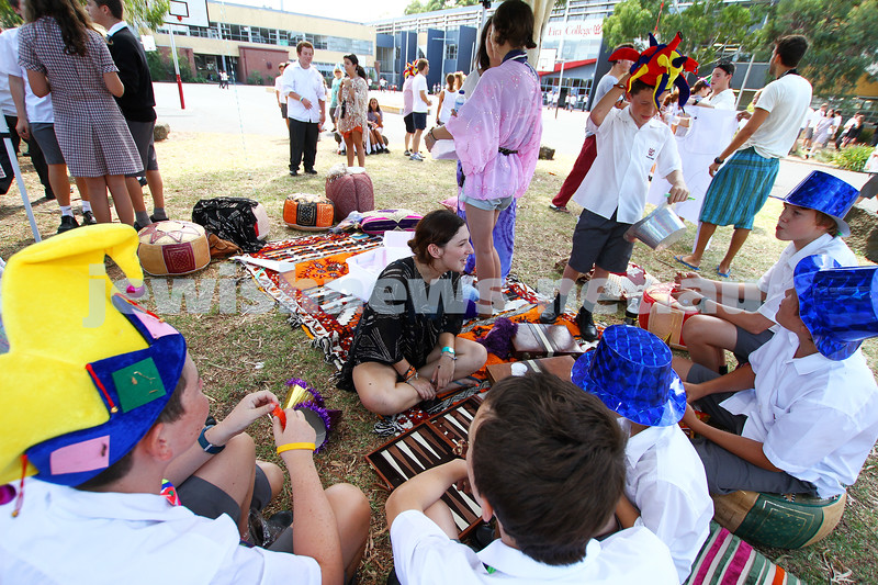 25-2-13. JSN/UJEB. Purim at Glen Eira College. . Photo: Peter Haskin