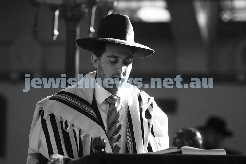 14-8-11. Induction of Rabbi Yaakov Glasman as Chief Minister of St Kilda Hebew Congregation. Rabbi Hillel Nagel. Photo: Peter Haskin
